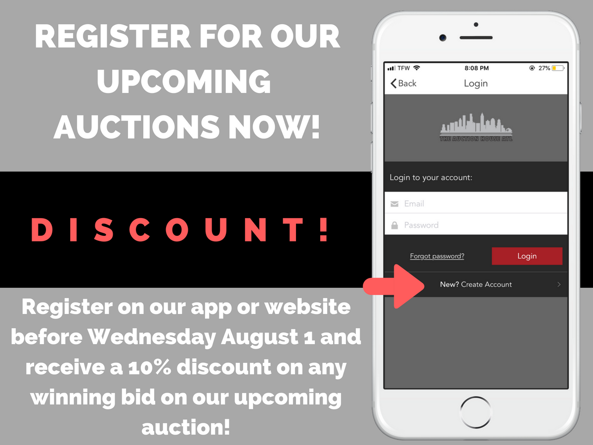 AUCTION CLOSED – Sign Up For A Discount On Our Upcoming Auction!
