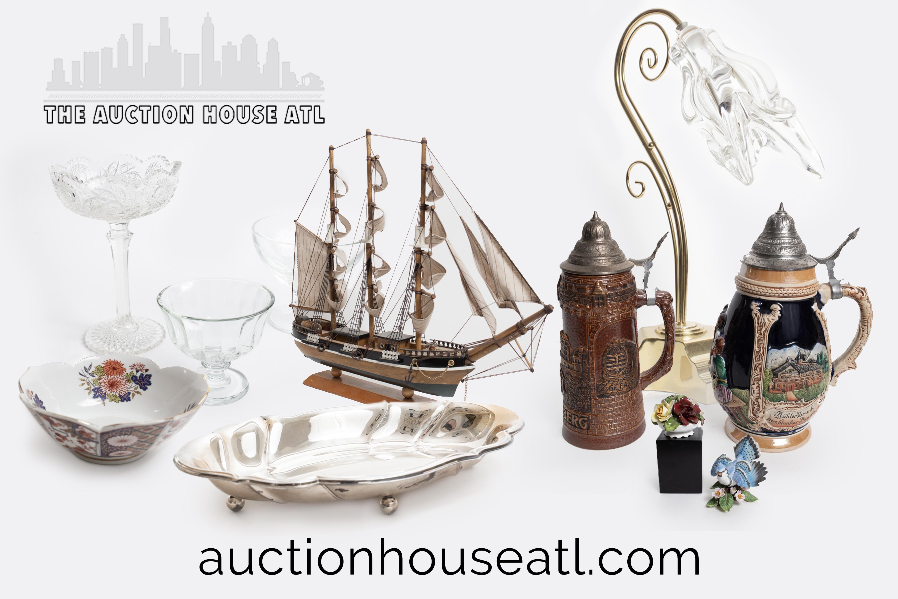 AUCTION CLOSED -Close Out High End Estate Auction – Antiques, Collectibles, Art, Home Decor, Silver, Designer Accessories & More